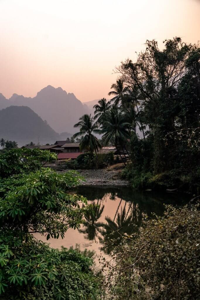 The Pha Tang Village near Vang Vieng in Laos