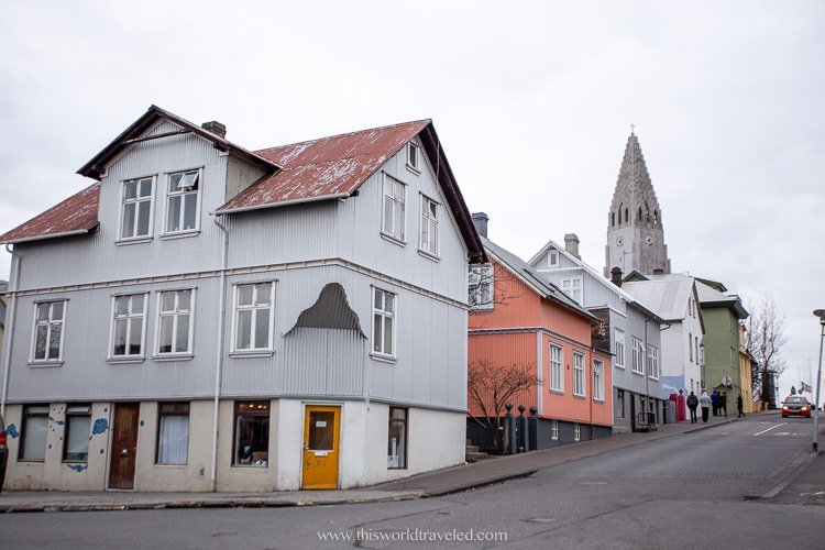 The town of Reykjavik in Iceland