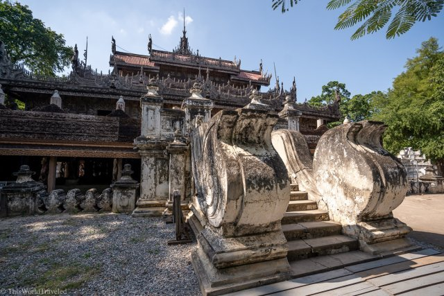 The wooden Shwedandaw Monastery in Mandalay, Myanmar
