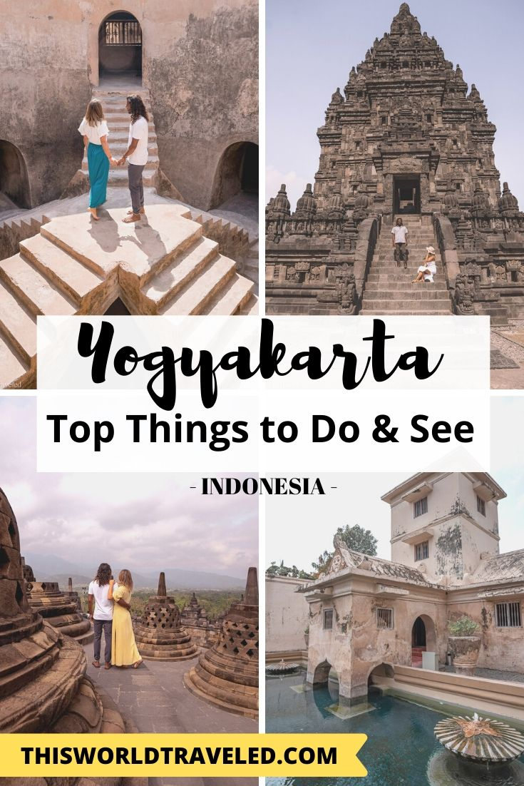 Pinterest Board Cover for the Top Things to Do and See in Yogyakarta