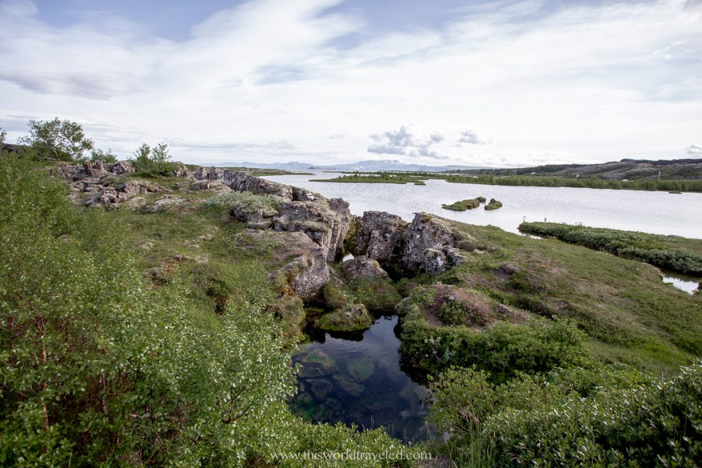 Seeing the two continental plates at Thingvellir National Park in the Golden Circle in Iceland