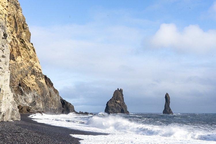 The beach at Reynisfjara on Iceland's south coast