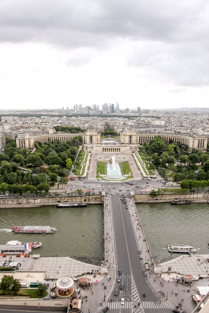 View of Trocadero from the Eiffel Tower in France