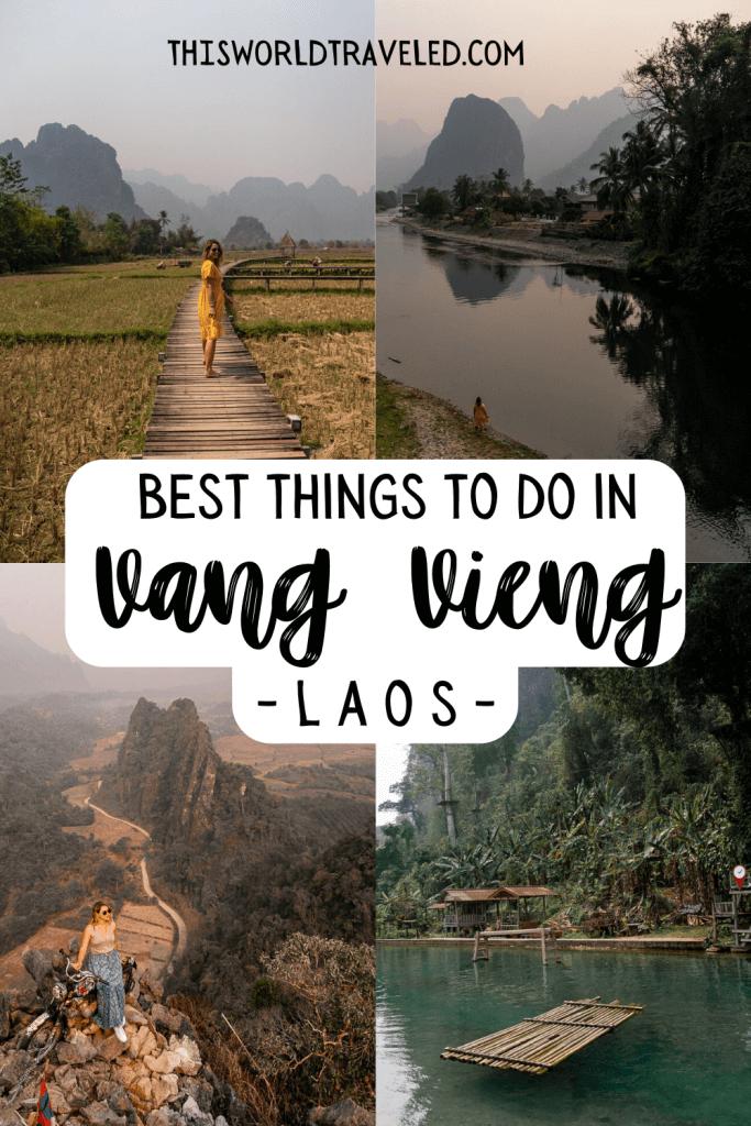 Vieng Tara Villa, Blue Lagoon 3, Nam Xay Viewpoint, Pha Tang Village in Vang Vieng, Laos