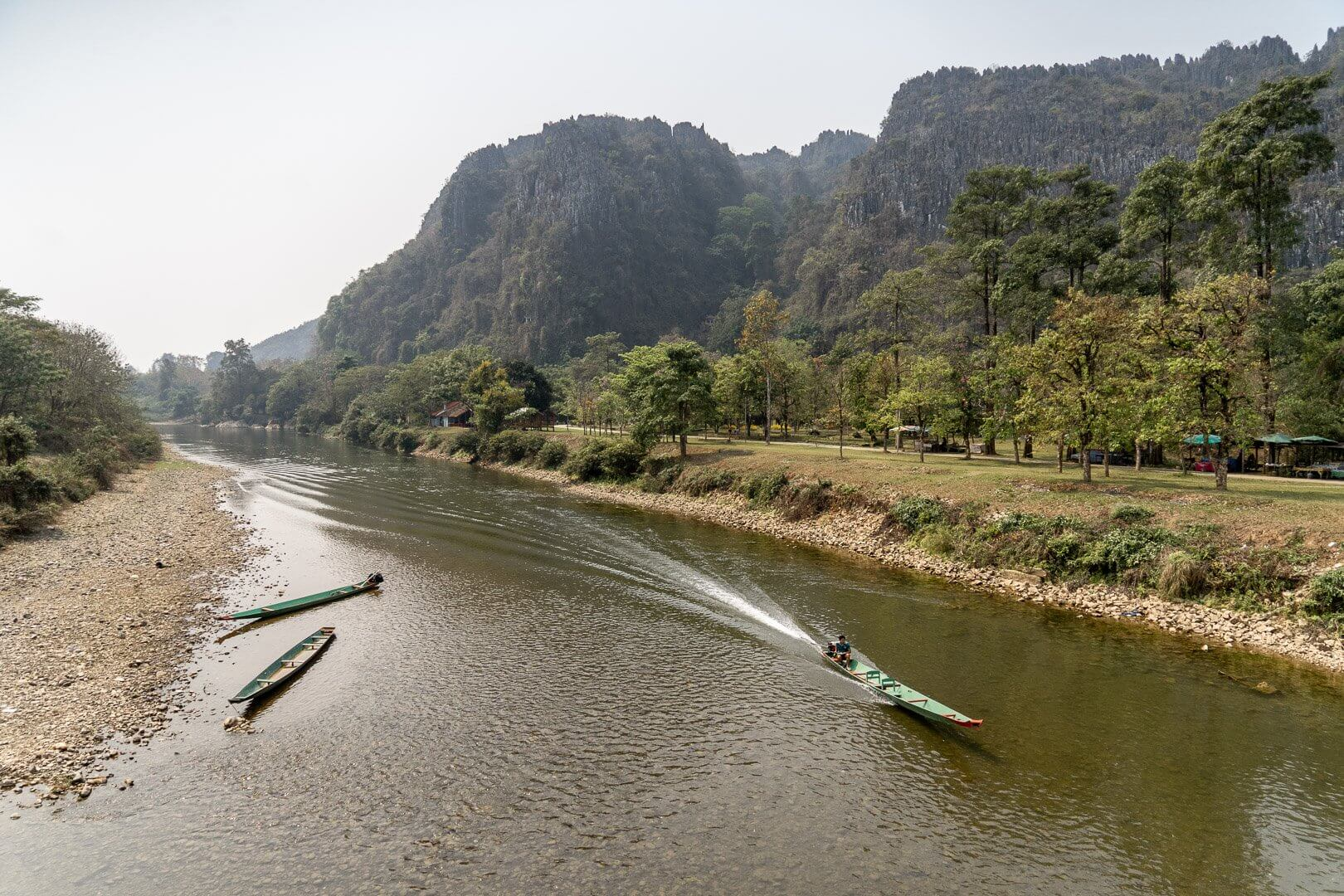 The Nam Song river in Vang Vieng, Laos