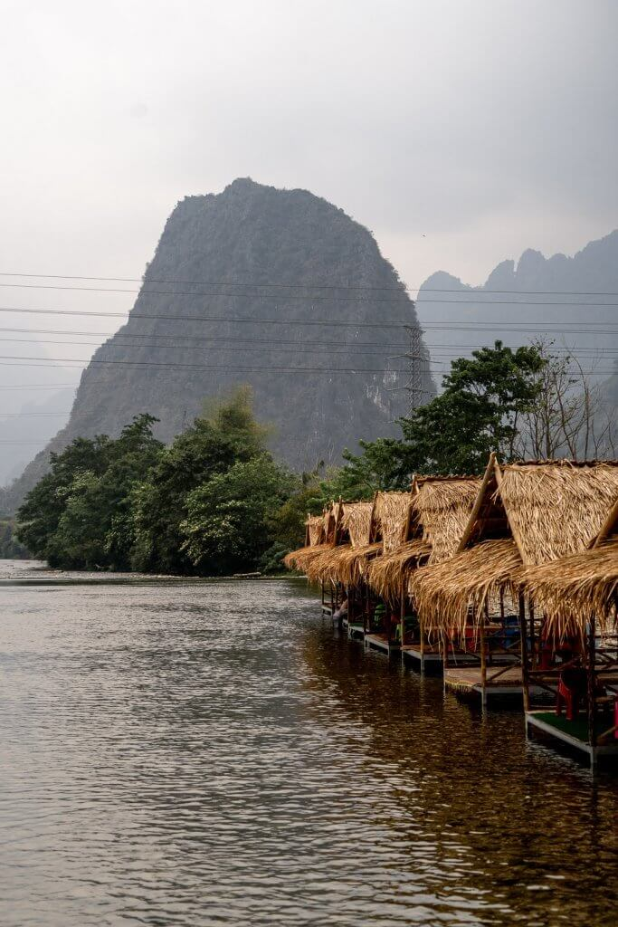 The Pha Tang view from the small bamboo bridge