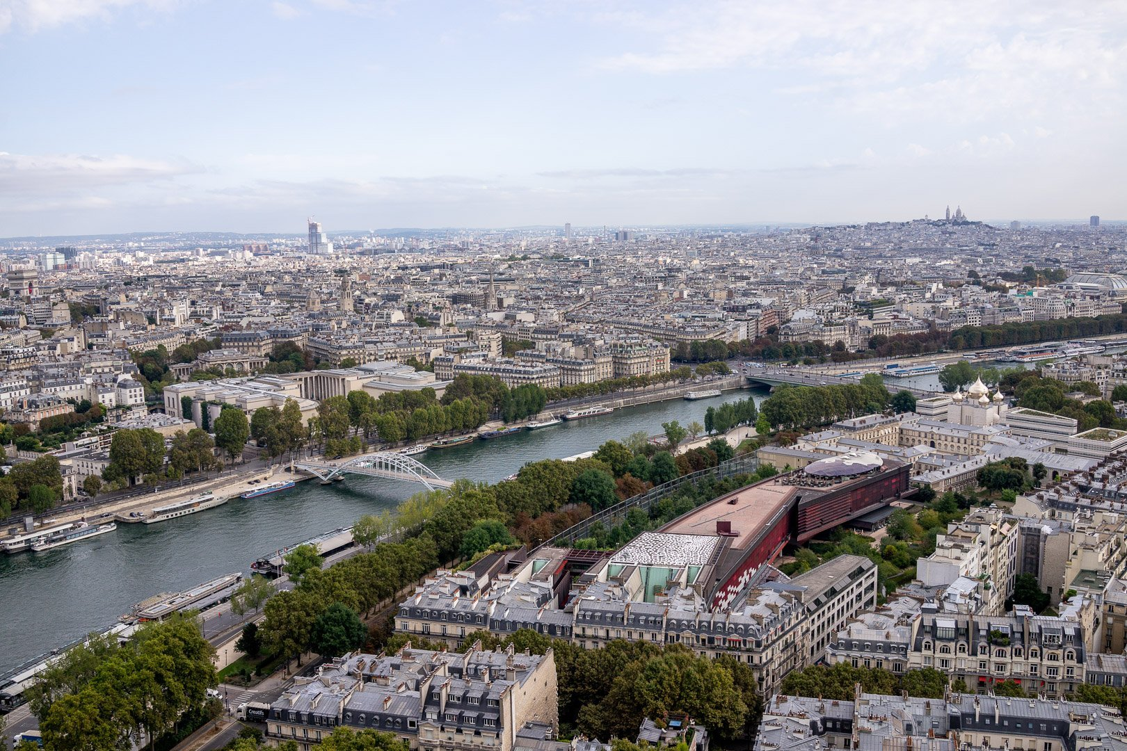 Views over Paris as seen from the Eiffel Tower