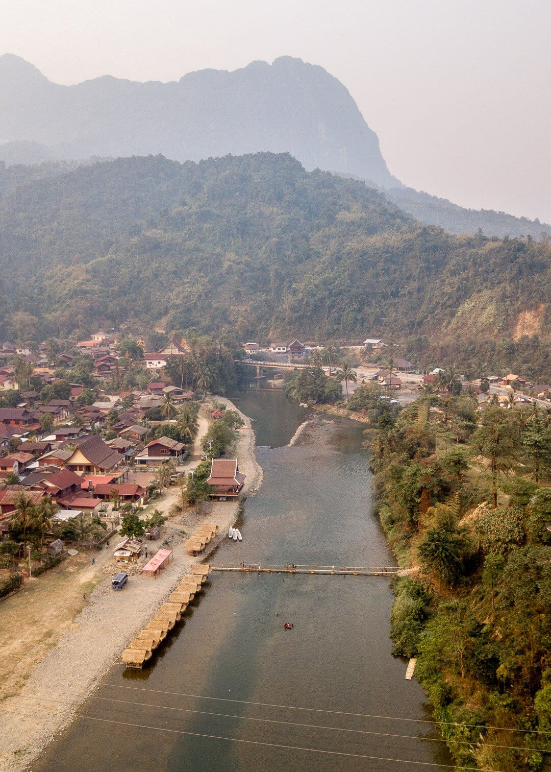 The village of Pha Tang near Vang Vieng in Laos