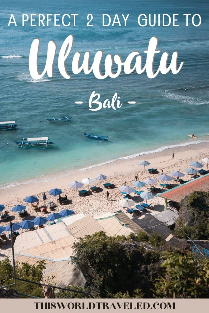 You can go surfing at one of Uluwatu, Bali