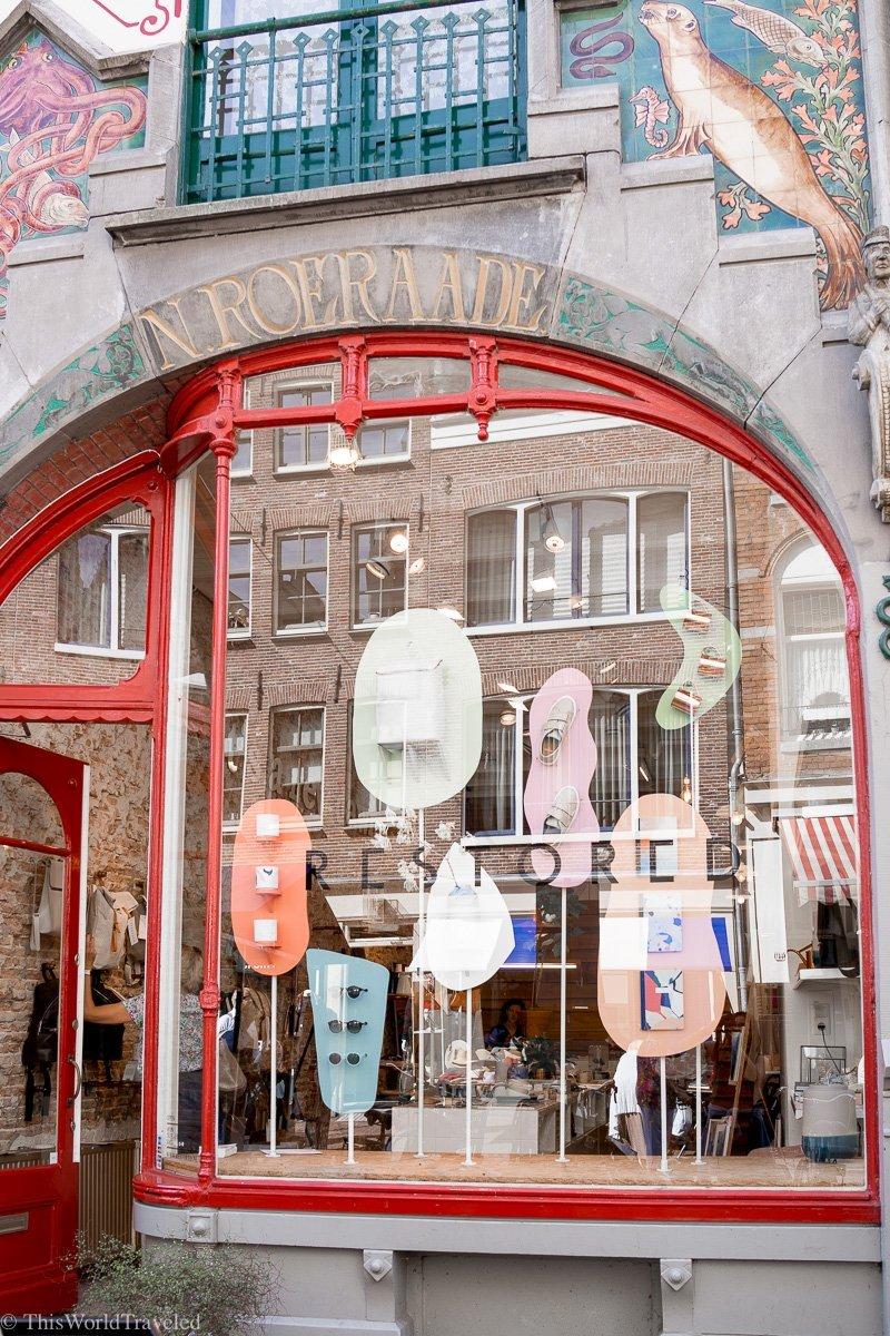 A shop called Restored which is located in Amsterdam's trendy Jordaan neighborhood