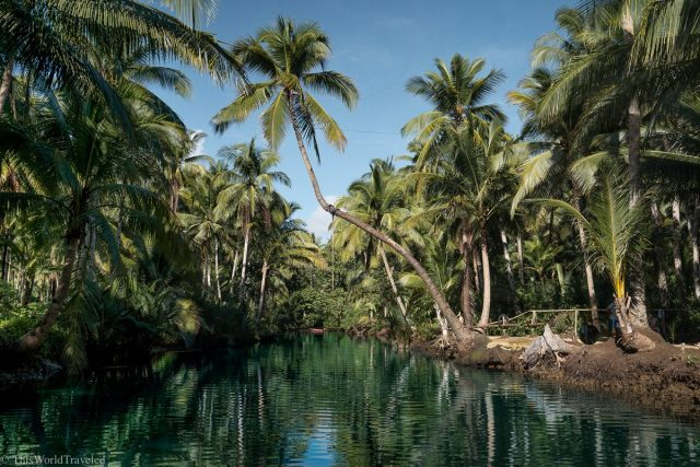 The Maasin River on Siargao Island in the Philippines