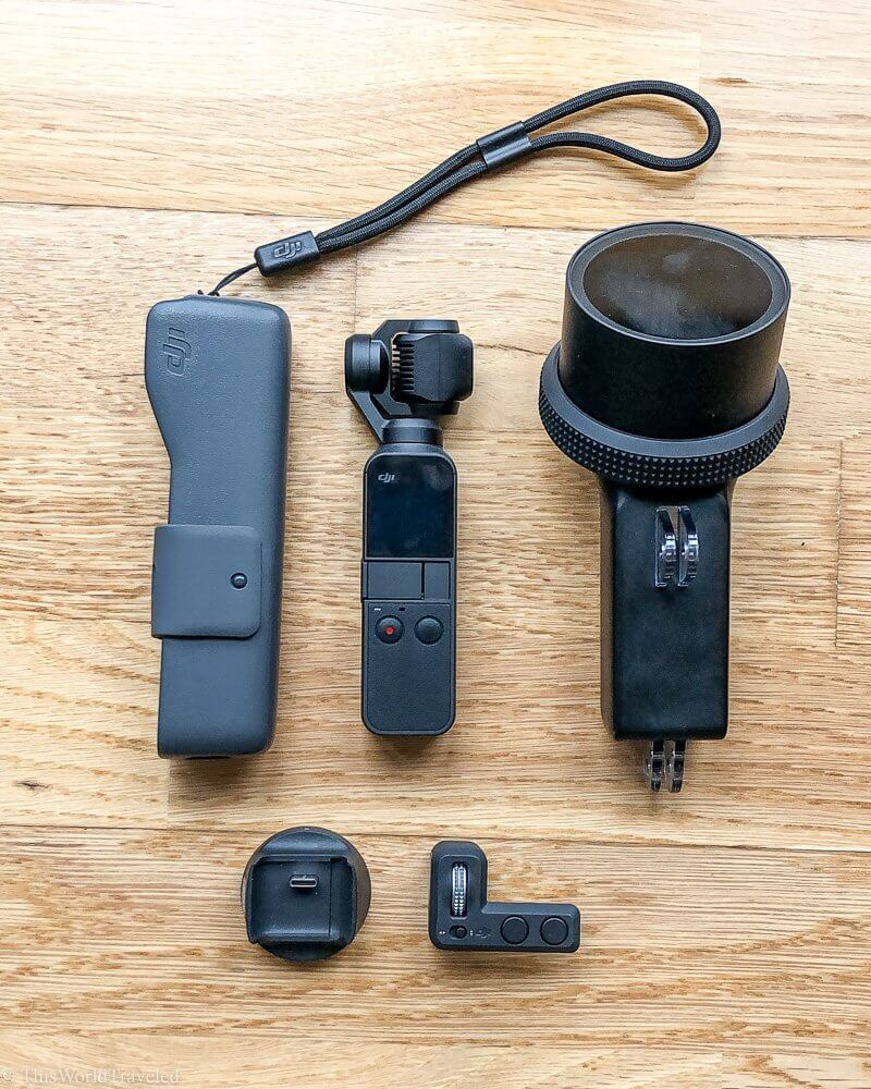DJI Osmo pocket with underwater housing and accessories