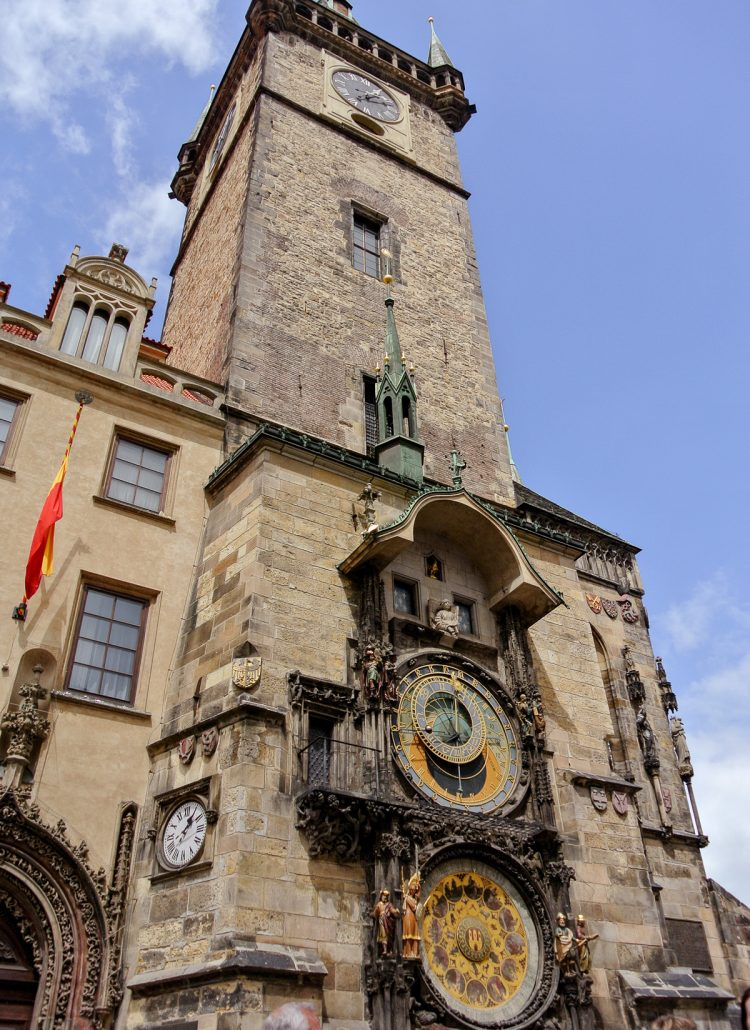 The Astronomical clock in Prague's Old Town Square