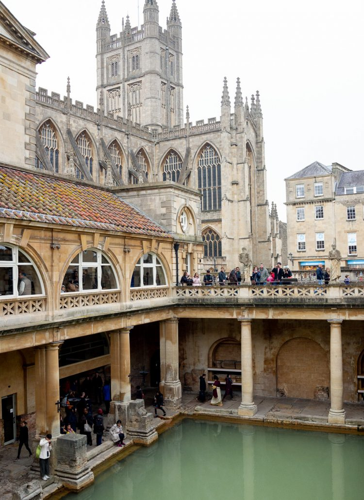 The ancient baths that are located in Bath, England