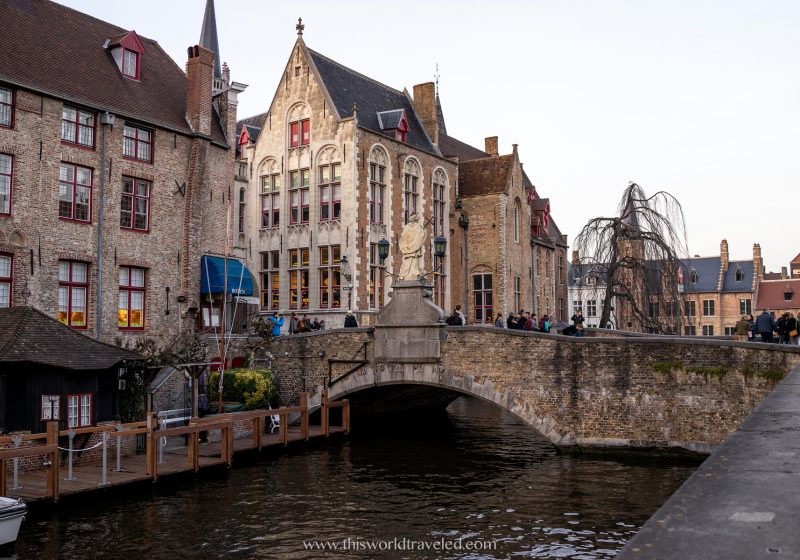 When planning a trip to Europe you might want to visit the canals of Brugge, Belgium .
