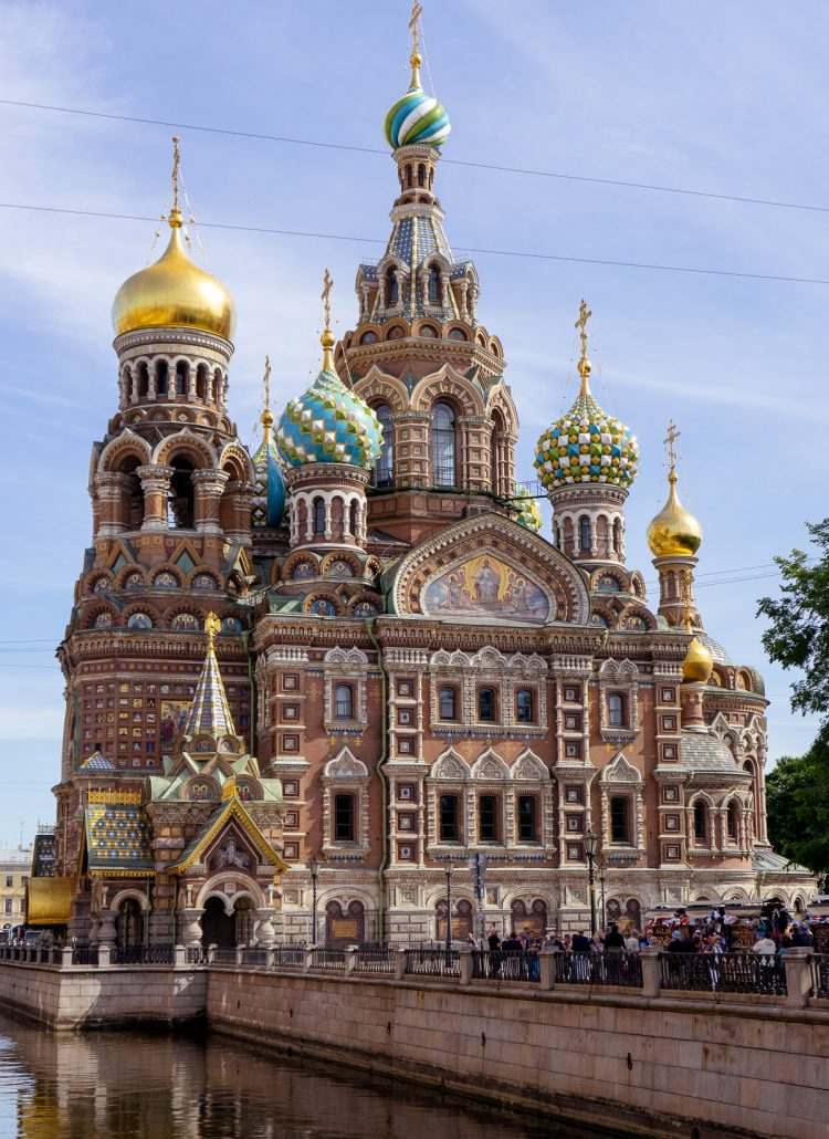 The Cathedral of Spilled Blood in St. Petersburg, Russia