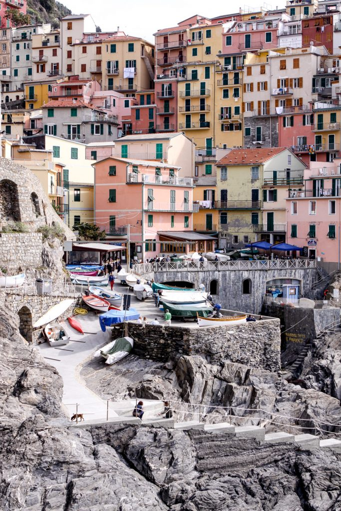 The colorful village of Manarola located in northern Italy