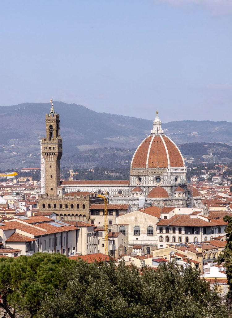 View of Florence from Piazzale Michelangelo in Italy