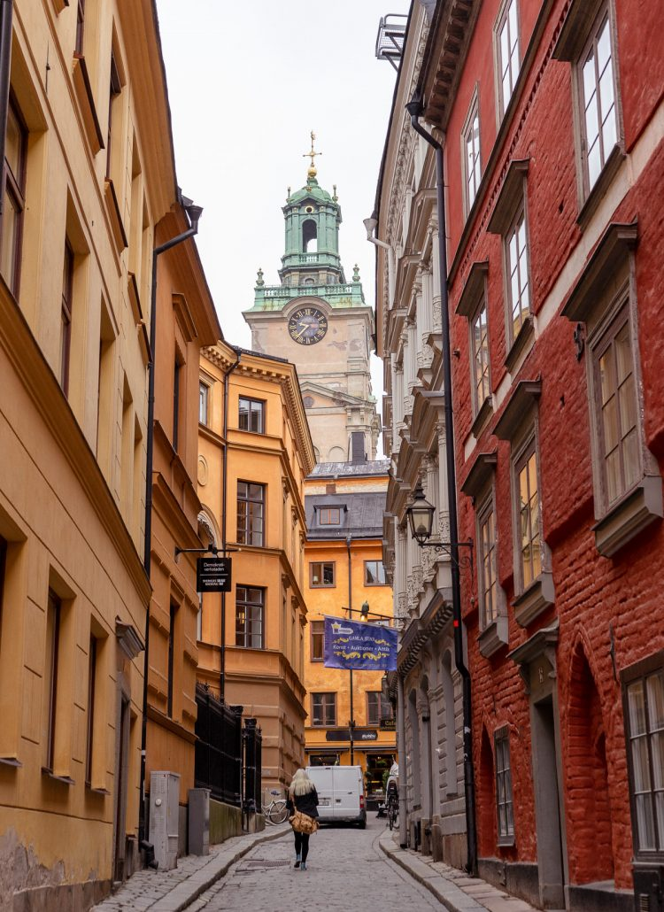 The streets of Gamla Stan in Stockholm, Sweden