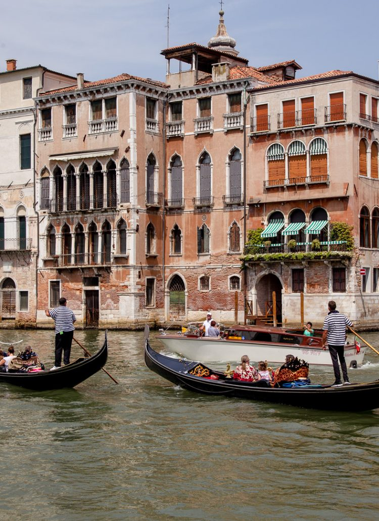 The grand canal in Venice, Italy is somewhere you can visit during a European Vacation