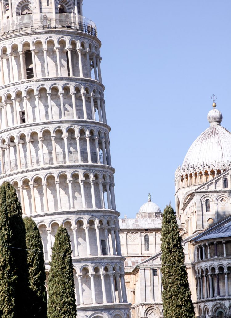 The leaning tower of Pisa in Italy can be seen on a European vacation