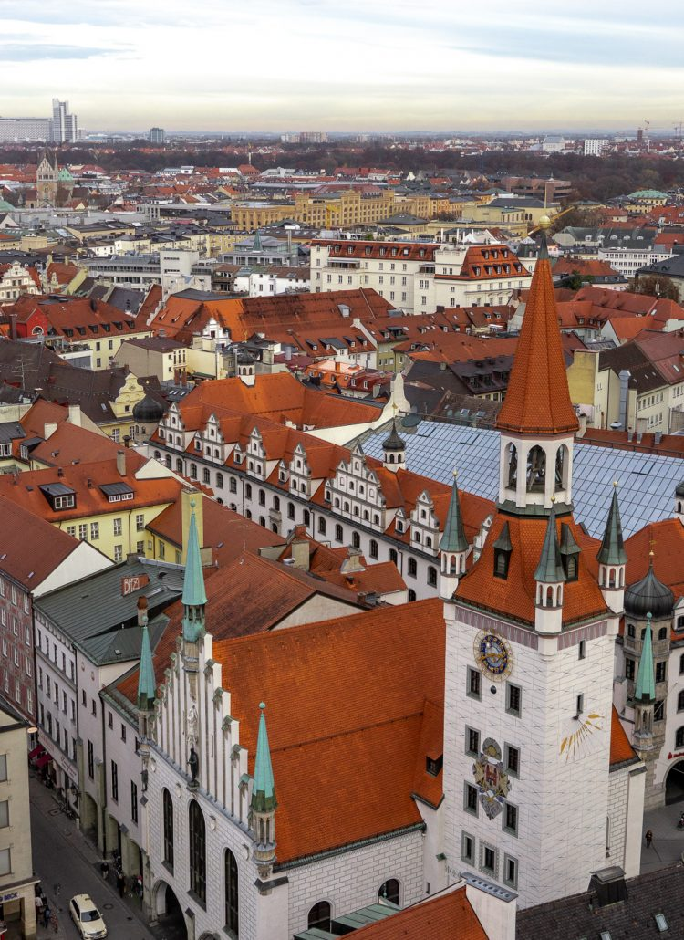 View of Old Town Square in Munich, Germany