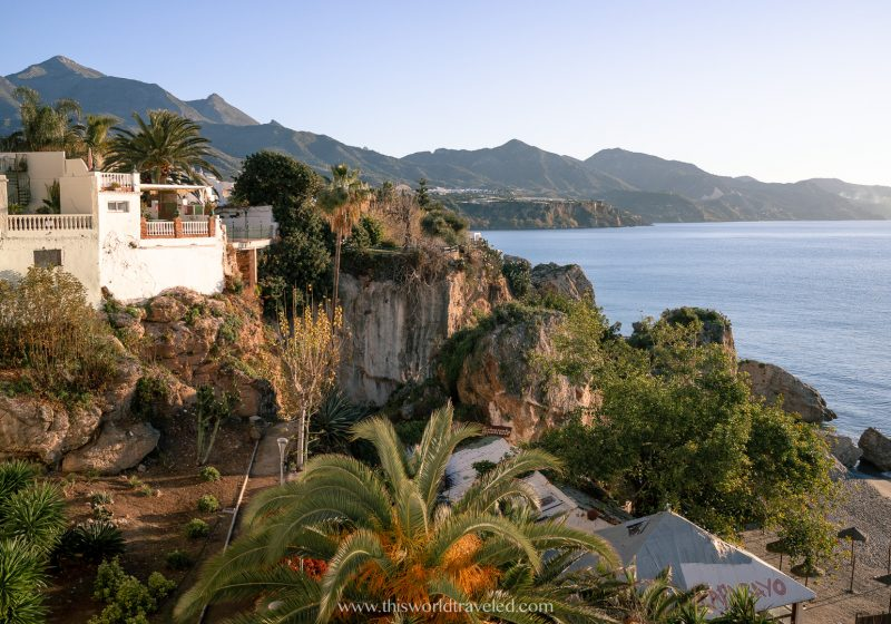 The coastal town of Nerja, Spain is a great place to be by the water and enjoy being on the beach
