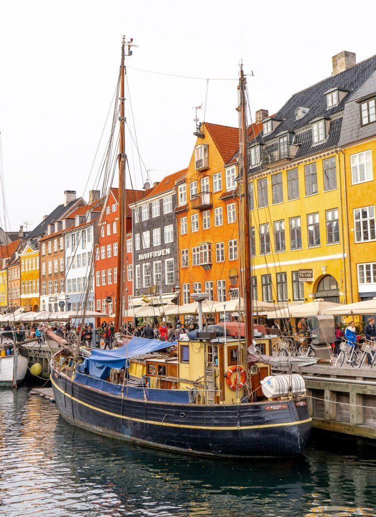 The colorful Nyhavn Street in Copenhagen, Denmark