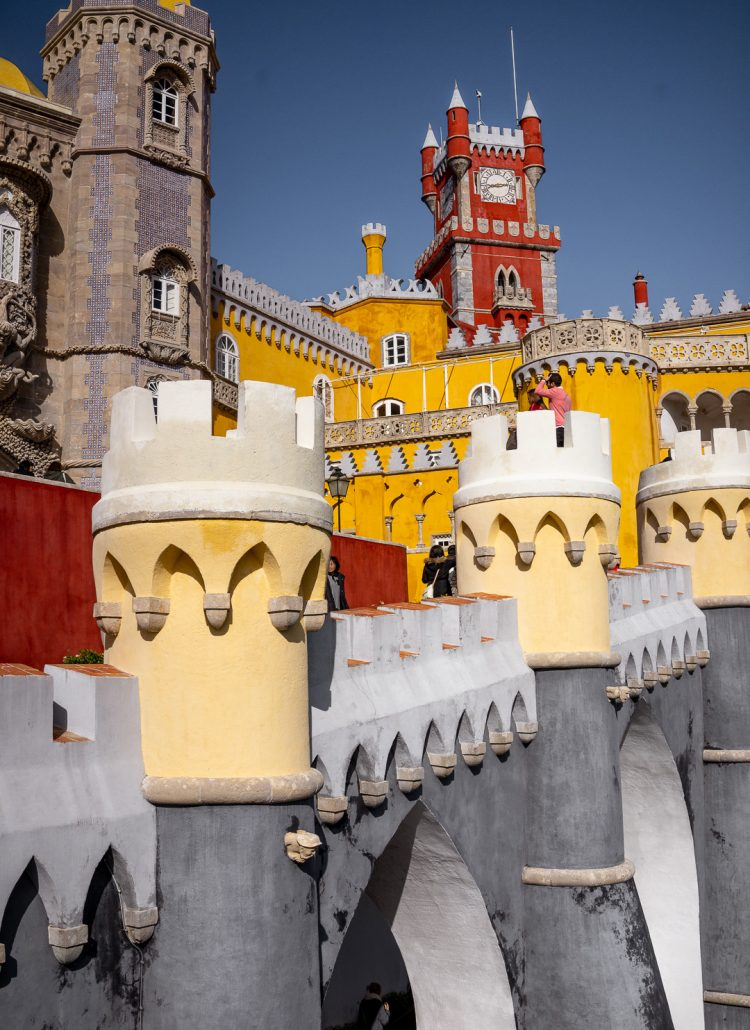 The colorful Pena Palace in Sintra, Portugal