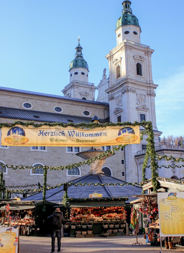 The Christmas markets in Salzburg, Austria is a popular thing to do on a European vacation