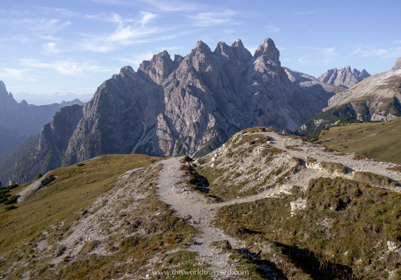 Take a road trip in Europe to visit places like the Dolomites in Italy