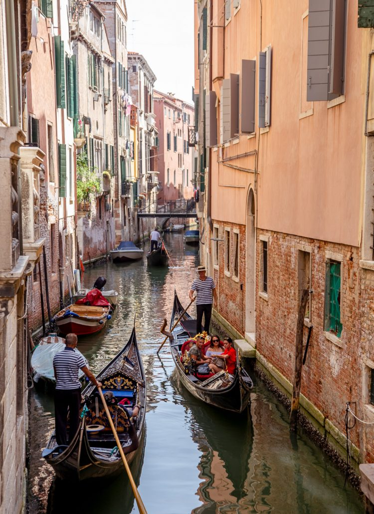 The canals of Venice are a popular place to visit in Europe