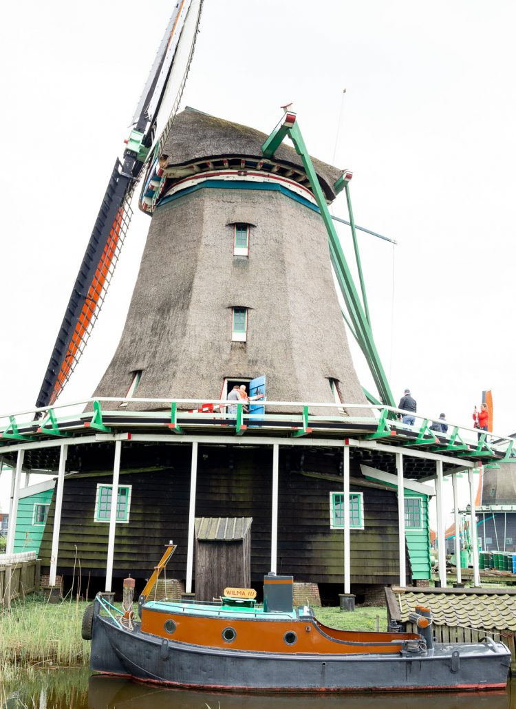 A windmill in Kinderdijk, the Netherlands