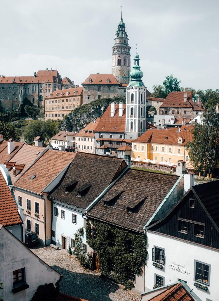 The small town of Czesky Krumlov in Czechia