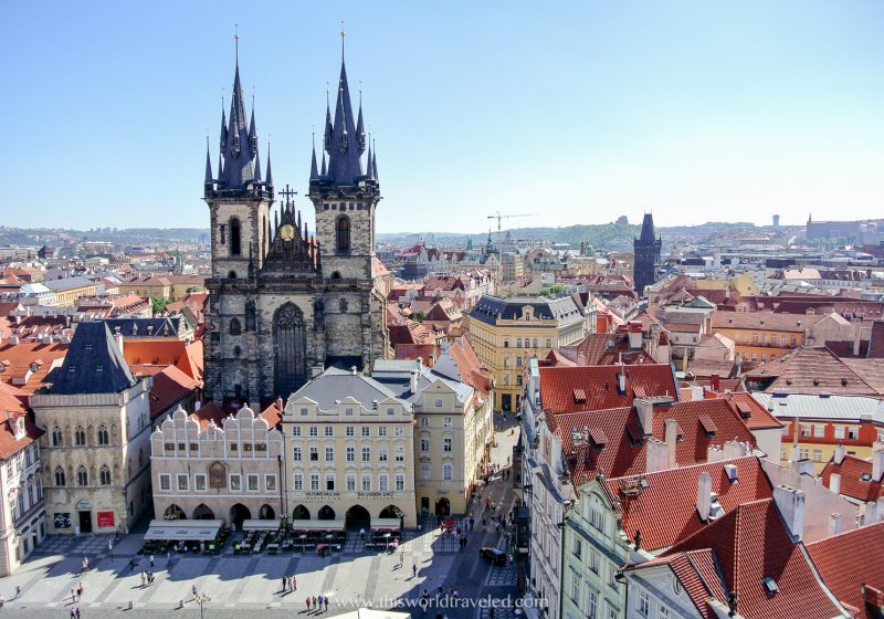 The Prague Old Town Square is one of the budget friendly countries you can visit on a European vacation