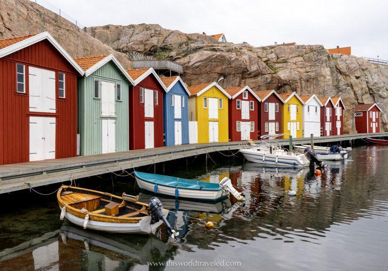 The small fishing village of Smögen in Sweden