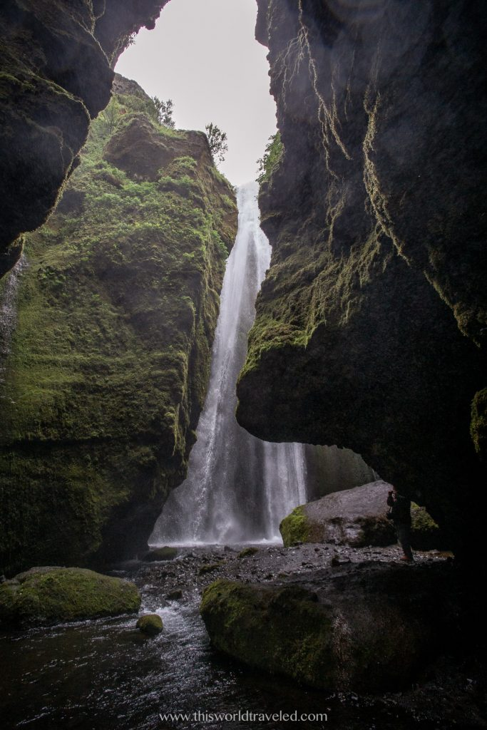 Gljúfrabúi hidden waterfall along Iceland's south coast