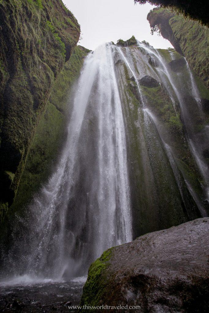 Gljúfrabúi hidden waterfall along Iceland's south coast