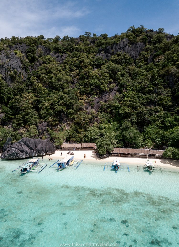 Drone shot of the philippines island from the travel blog This World Traveled