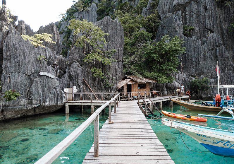 The entrance to Barracuda Lake in Coron, Palawan