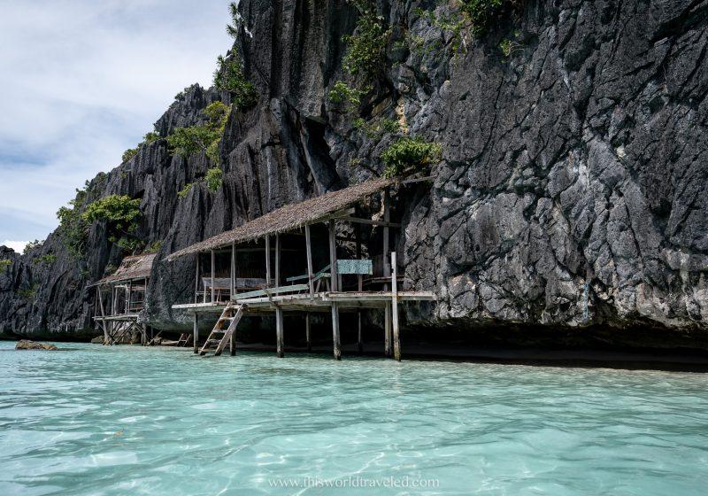 The beach huts at Banul Beach in Coron, Palawan