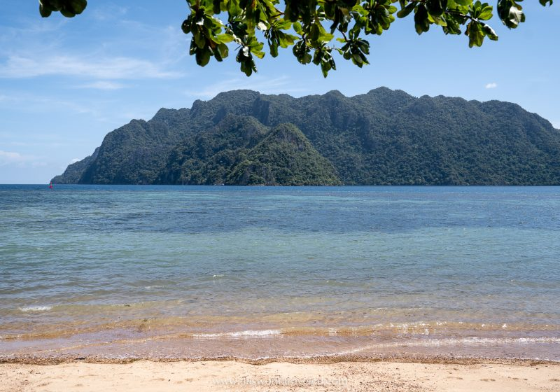 View of Cabo Beach in Coron, Palawan