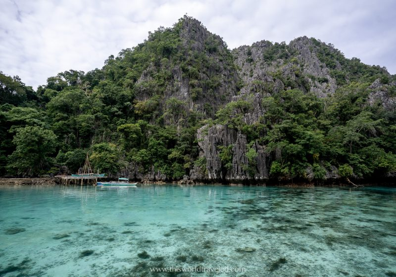 The entrance to Kayangan Lake which can be visited while island hopping in Coron, Palawan
