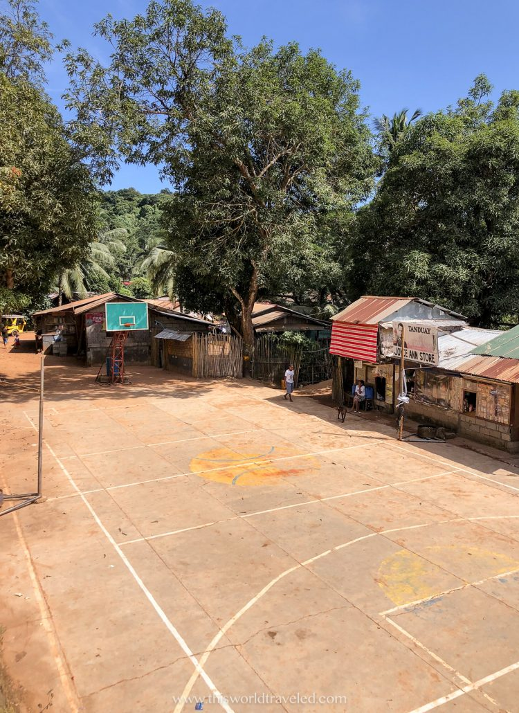 A basketball court in a small village near Coron town in Palawan