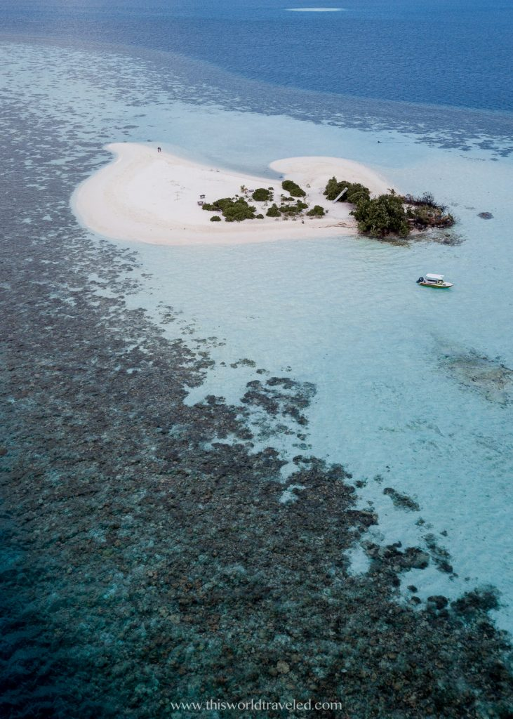 A small private island in the maldives