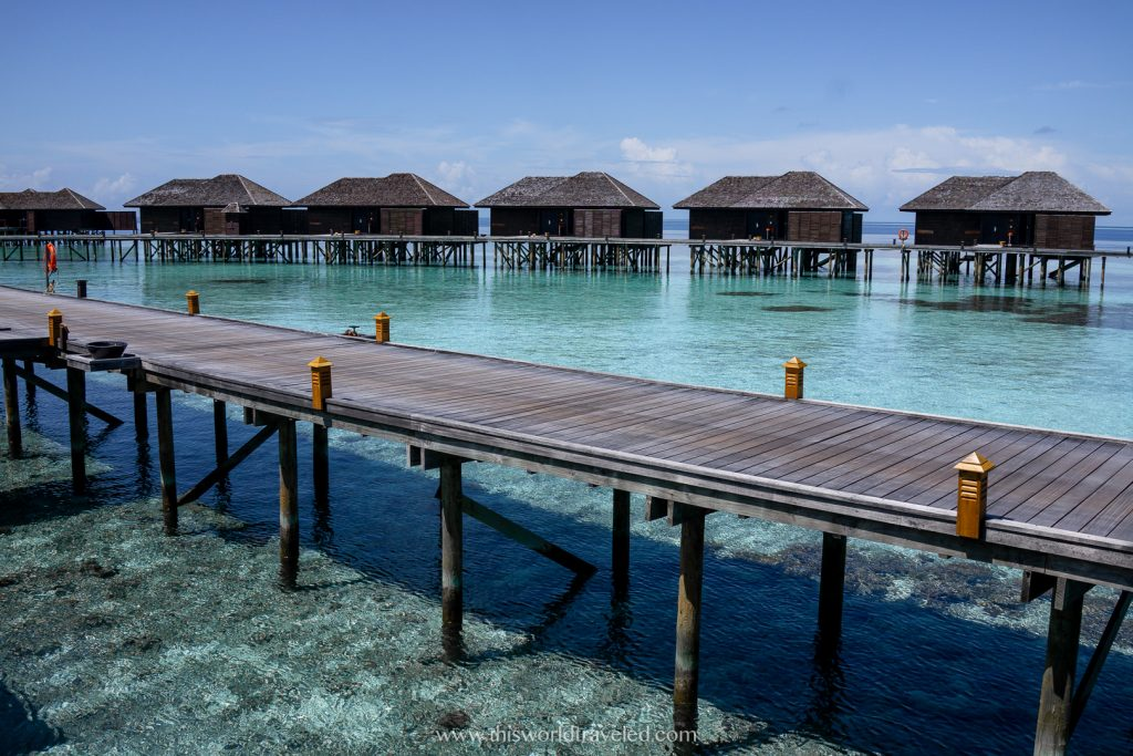 Maldives overwater bungalows in the Maldives