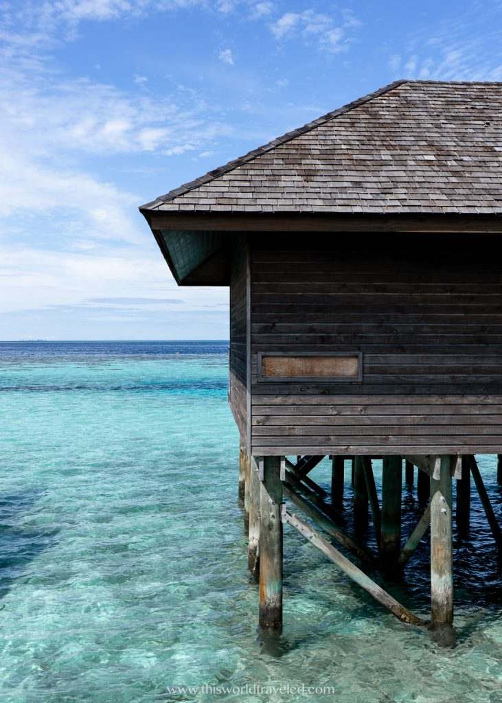 Over the water bungalow at Lily Beach Resort & Spa in the Maldives