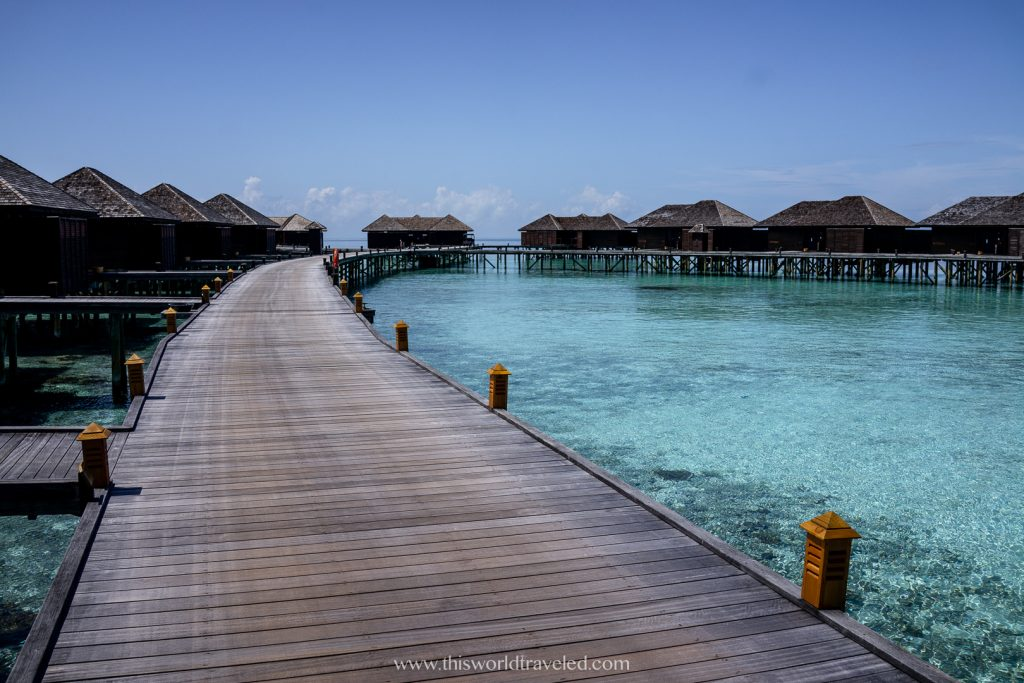 Maldives overwater villas at Lily Beach Resort and spa