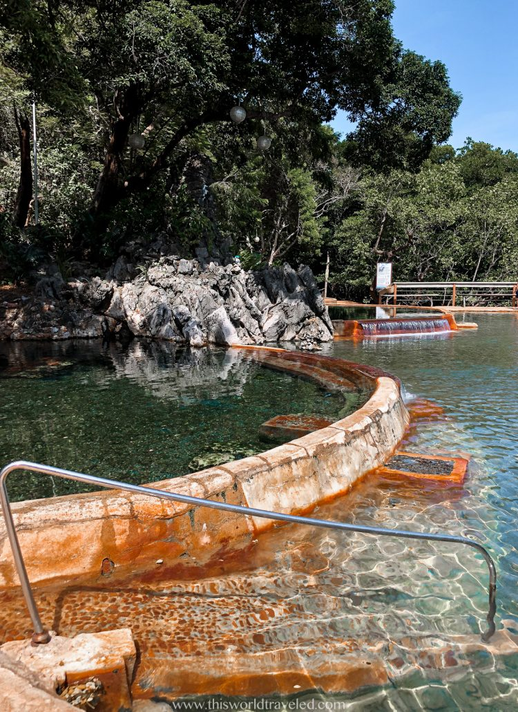 The separate pools at the Manquinit Hot Springs in Coron, Palawan