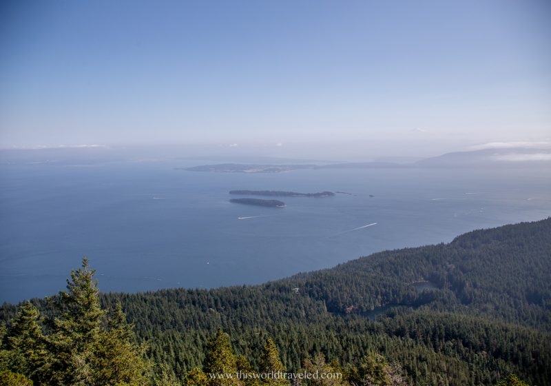 Views from the hike at Mount Constitution in Moran State Park in Orcas Island.
